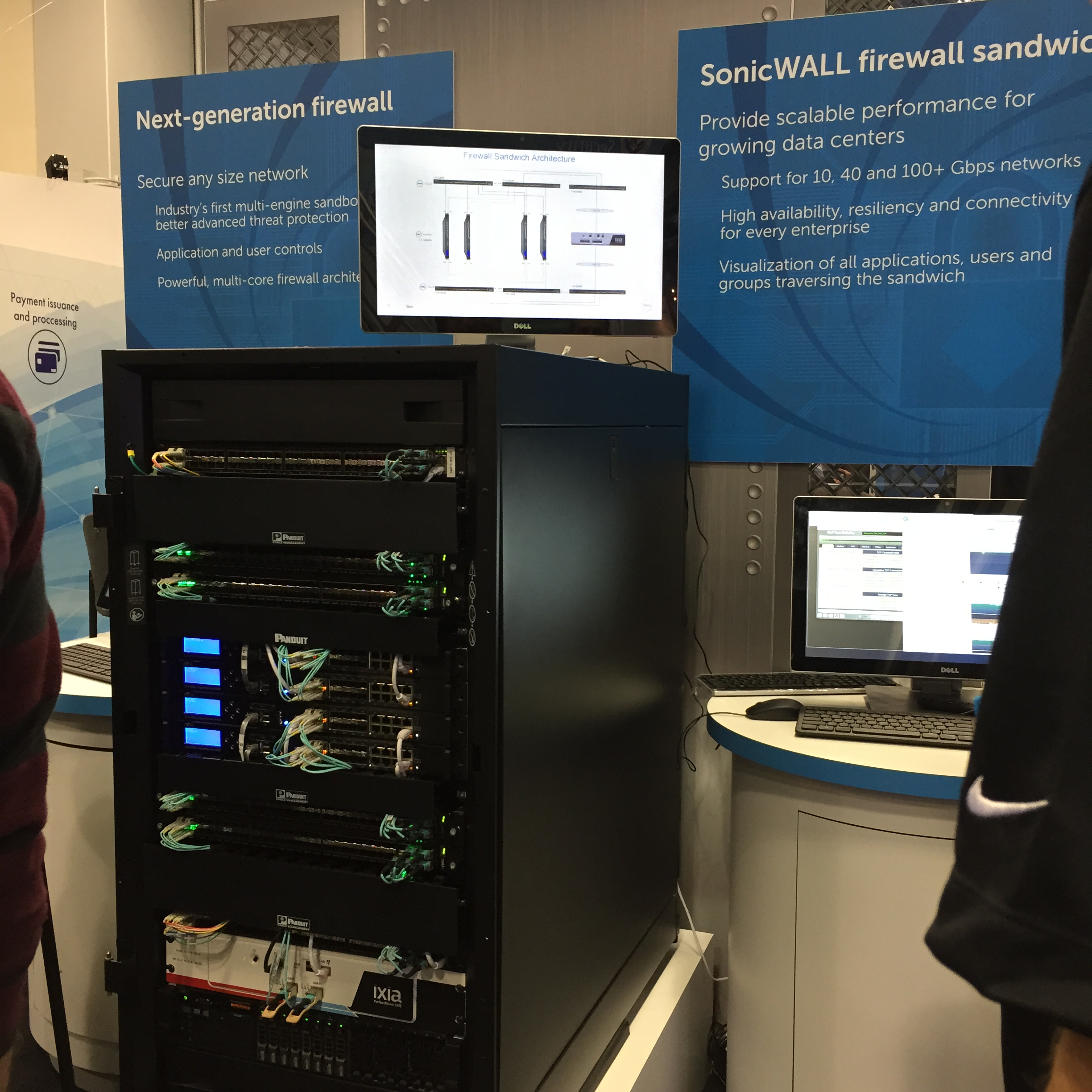 Picture of SonicWall's SuperMassive 9000 Series Next-Generation Firewall at a show