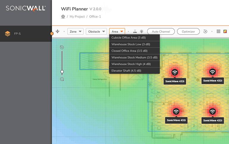 WiFi Planner - SonicWall