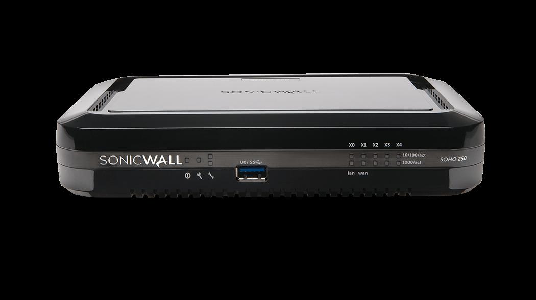 SonicWall SOHO 250/SOHO 250W firewall photo.