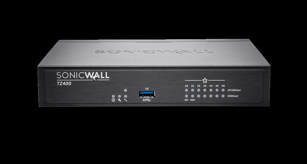 SonicWall TZ400 firewall photo.