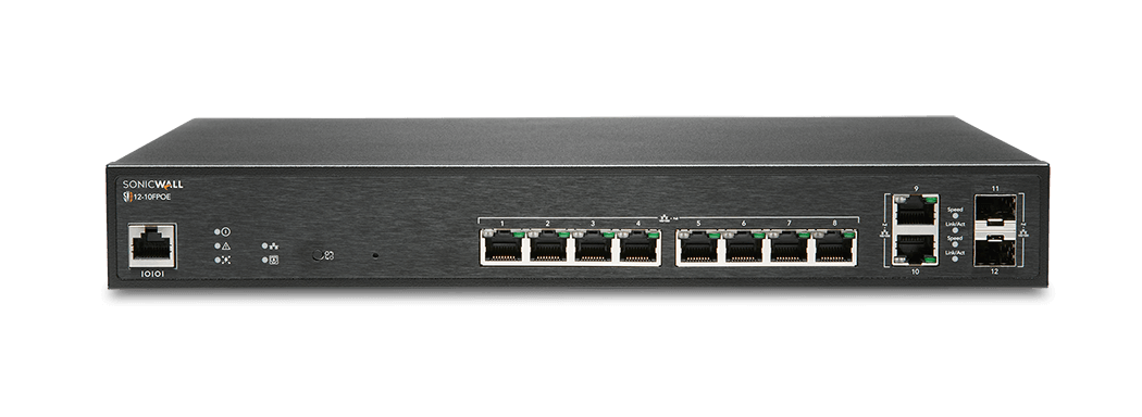 SonicWall network switch model 12-10FPOE