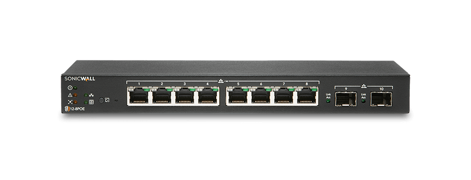 SonicWall network switch model 12-8POE