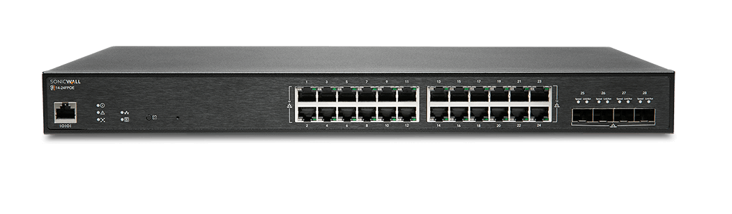 SonicWall network switch model 14-24FPOE