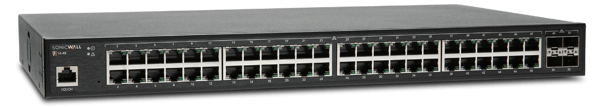 SonicWall network switch model 14-48 (angle view)