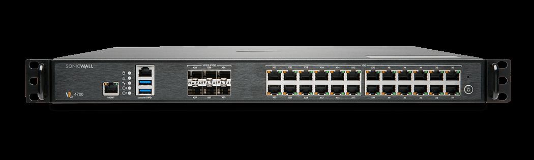Generation 7 NSa 4700 firewall front panel.