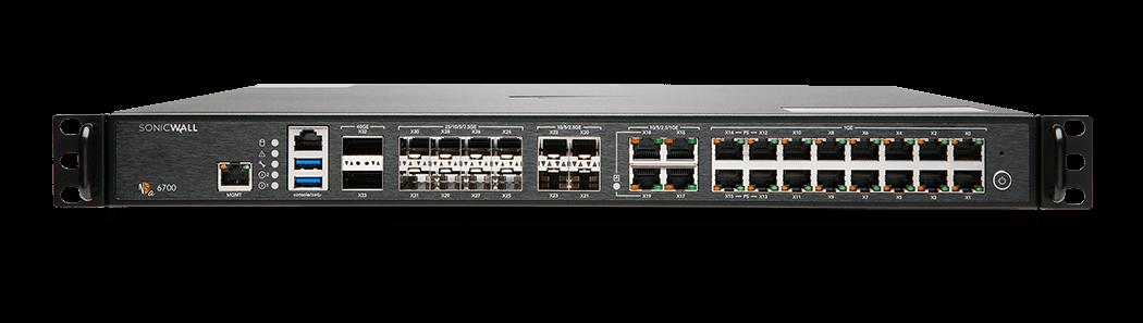 Generation 7 NSa 6700 firewall front panel.