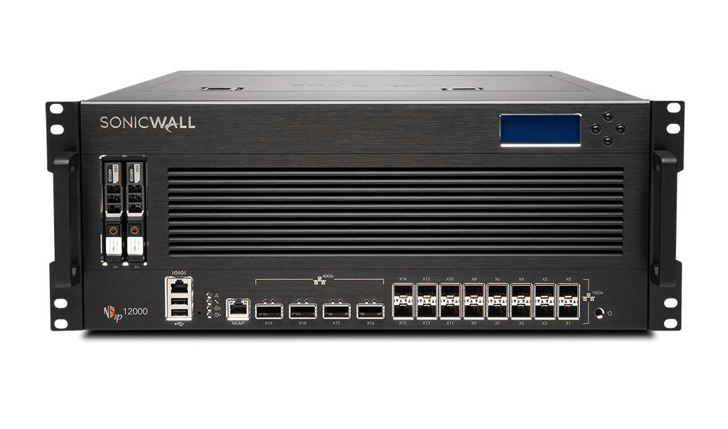 Photo of SonicWall NSsp 12000 firewall front