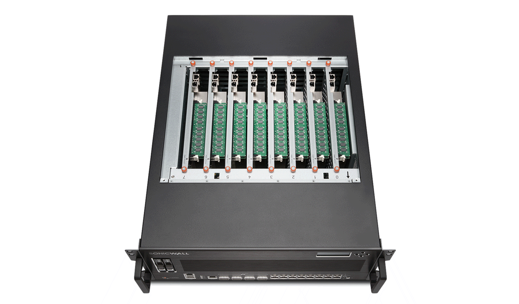 Photo of SonicWall NSsp 12000 top.