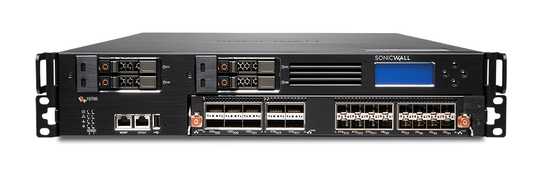 Photo of SonicWall NSsp 15700 firewall front