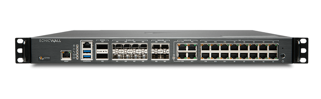 Photo of SonicWall NSsp 13700 front.