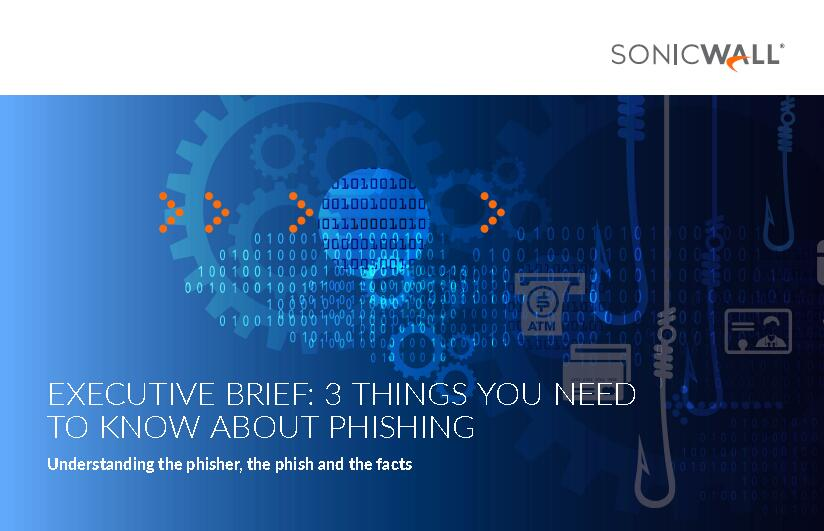 Executive Brief: 3 things you need to know about phishing Image