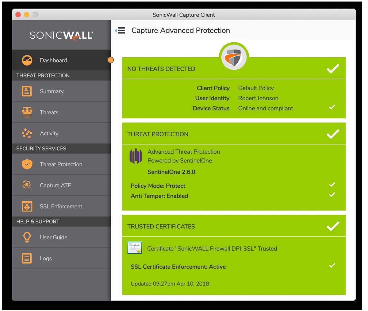 Capture Cloud Platform Sonicwall